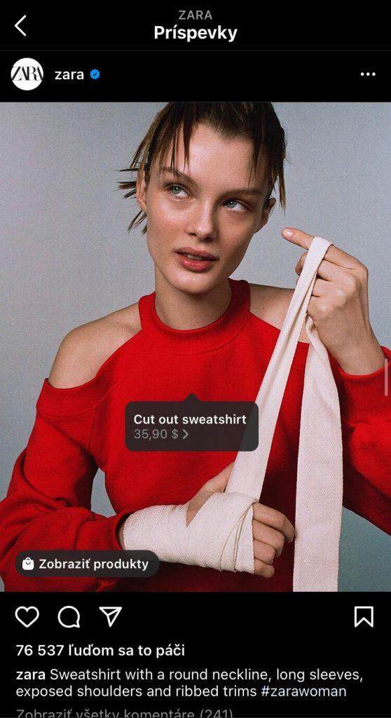 Facebook shopping na instagrame u Zara